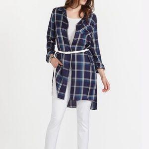 Reitmans Plaid Long Shirt Dress